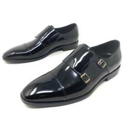 Louis Vuitton Wet-Look Men's Formal Shoe Black