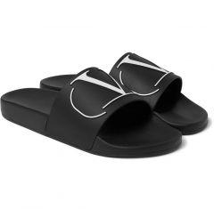 Nike Mens Benassi JDI Slide Sandal Black White