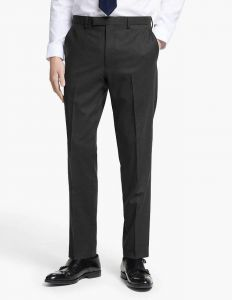 Men's Formal Plain Trousers Charcoal