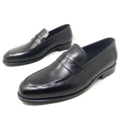 Rossi Men's Leather Loafers Black