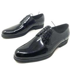 Rossi Men's Wet-Look Lace Up Shoe Black