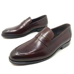 Rossi Men's Leather Loafers Brown