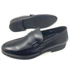 Robert Wood Single Strap Loafers Black