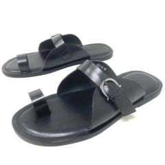 Bila Leather Slippers Black