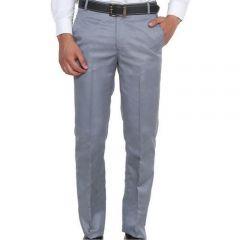 Men's Formal Plain Trousers Grey