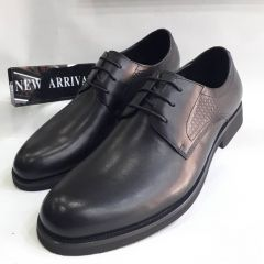 Men's Rossi Wet-Look Lace Up Shoe Black