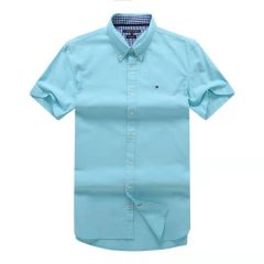 Tommy Hilfiger Plain Short Sleeve Shirt Mint
