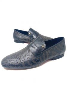 Louis Vuitton Patterned Loafers Black