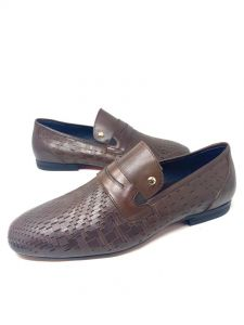 Louis Vuitton Patterned Loafers Brown