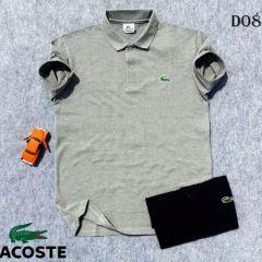Lacoste Plain Polo Shirt White