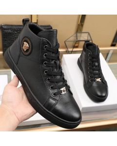 Versace Classic Leather Ankle Boot Black