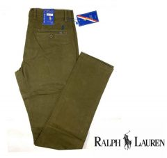 Ralph Lauren Straight Cut Chinos Trouser Army Green
