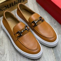 Timberland Leather Moccasin Nubuck Leather Derby Brown