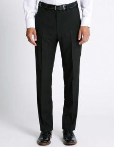 Men's Formal Plain Trousers Black
