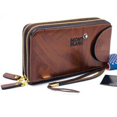 Men's Clutch Hand Bag Brown