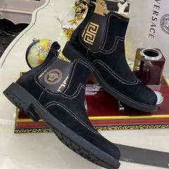 """Versace Suede Ankle Boot """"Black"""""""