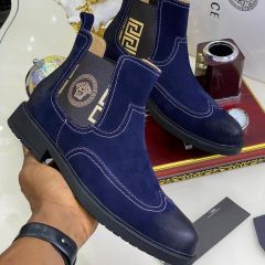 """Versace Suede Ankle Boot """"Blue"""""""