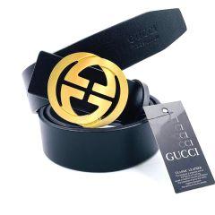 Gucci Classic Men's Black Belt 01