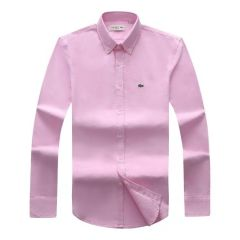 Lacoste Plain Long Sleeve Shirt Pink