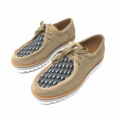 Dior Mid Top Casual Sneakers Light Brown