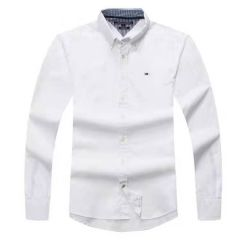 Tommy Hilfiger Plain Long Sleeve Shirt White