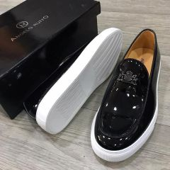 Dior x Angelo Ruffo Wet-Look Classic Men Loafers