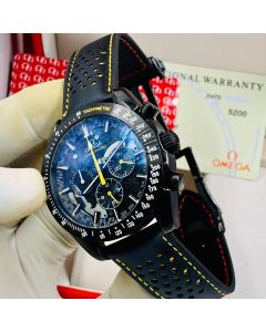 Omega Seamaster Chronograph Wrist Watch Navy Blue Strap