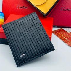 "Cartier Leather Slim Bifold Wallet ""Black"""