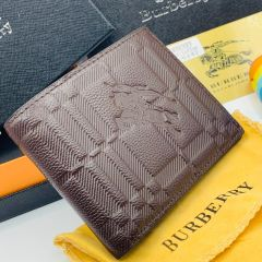 """Burberry Leather Slim Bifold Wallet """"Brown"""""""