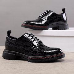 "Dior Designers Lace Up Shoe Black ""Wet-Look"""