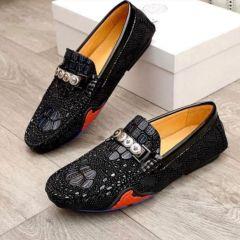 "Versace Croc Loafers ""Black"""