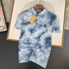 New Burberry Design Polo Shirt Blue