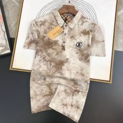New Burberry Design Polo Shirt Brown