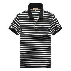 Burberry Stripe Polo Black