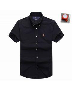 Polo Ralph Lauren Plain Long Sleeve Shirt Navy Blue