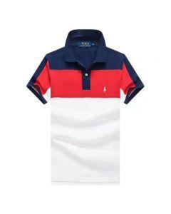 Ralph Lauren Polo Shirt Half Color Mix White Navy