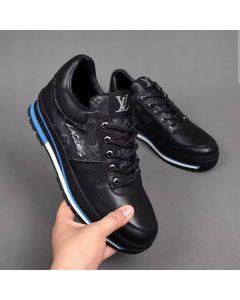"Louis Vuitton Leather Monogram Classic Sneakers ""Black"""