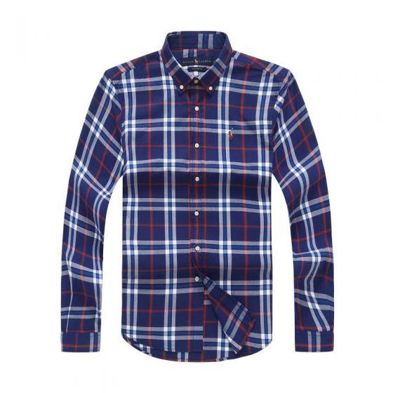 Polo Ralph Lauren Oxford Checkered Shirt Blue