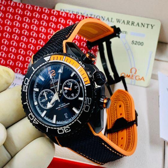 Omega Seamaster Chronograph Wrist Watch Black Orange