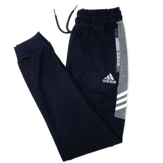 Adidas Side Stripe Joggers Black