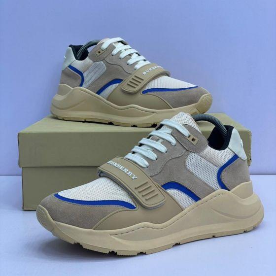 Burberry Black Ramsey Low Sneakers Brown