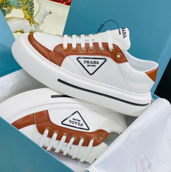 Prada Milano Low Top Sneakers White Mix